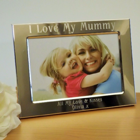 I Love My Mummy Personalised Engraved Photo Frame 6x4 Mothers Day Gift